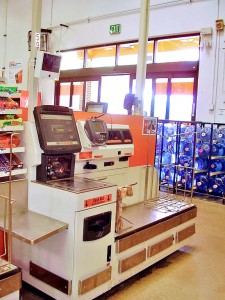 self checkout terminal at home depot