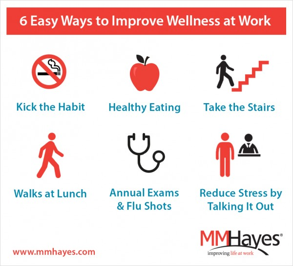 6 ways to improve wellness at work