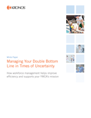 White Paper: Managing Your Double Bottom Line