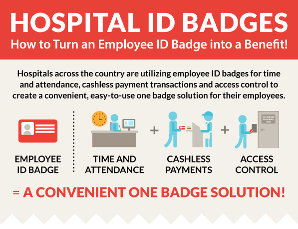 turn a hospital employee id badge into a one badge solution
