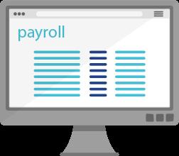 payroll deduction computer illustration