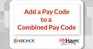 Add a Pay Code to a Combined Pay Code