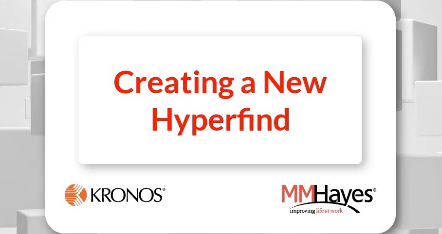 Creating a New Hyperfind