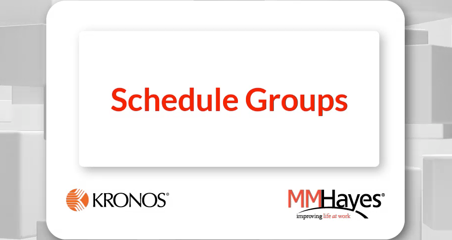 Schedule Groups