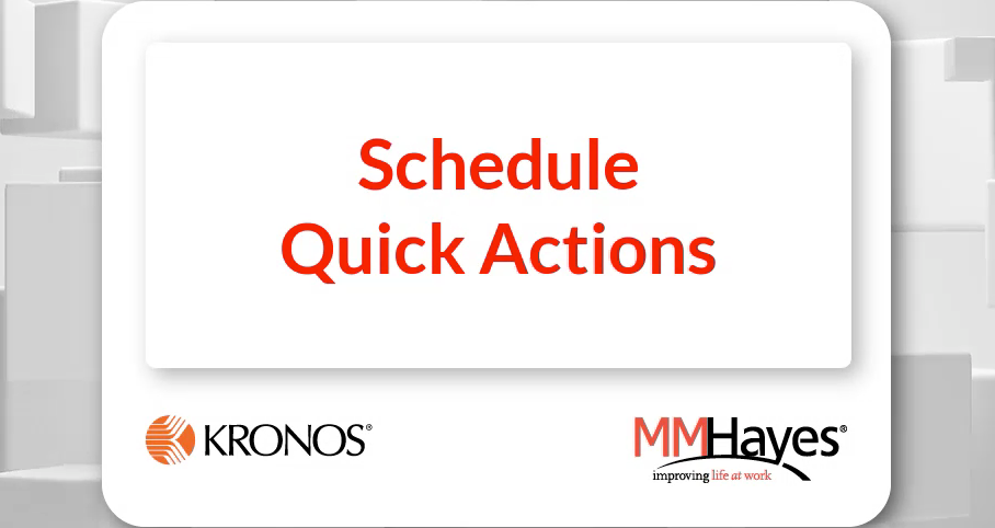 Schedule Quick Actions